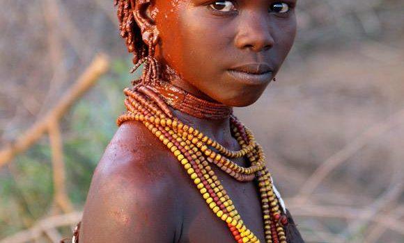 Hamer Girl From Omo Valley, Ethiopia