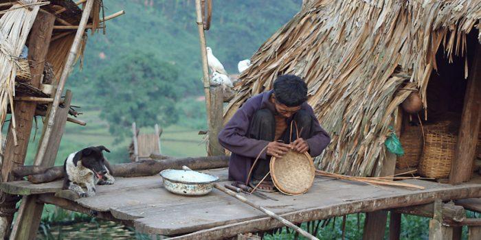 Man Weaving, Nam Ha NPA, Laos