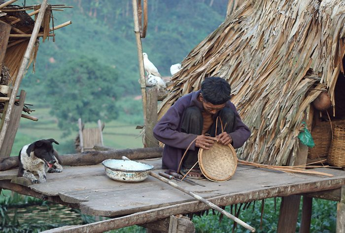 Man Weaving, Nam Ha NPA, Laos
