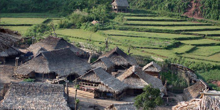 Village In Nam Ha NPA, Laos