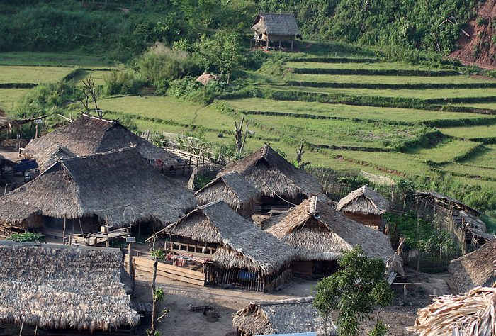 Village In Nam Ha NPA, Laos